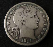 1911 S Barber Silver Half Dollar - Cond:  Fine