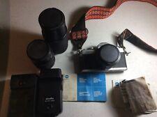 Minolta Xg-1 35mm Slr Film Camera w/ Accessories