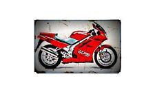 1991 rc36 Bike Motorcycle A4 Retro Metal Sign Aluminium