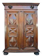 Petite armoire d'époque XVIIIème en noyer à pointe de diamants