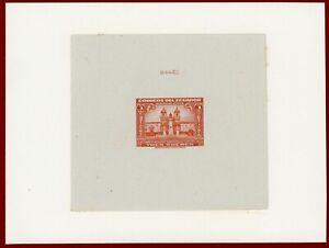 Ecuador 1944 #C126, Die Proof on Card, Church of San Francisco Quito, ABNC
