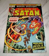 Marvel Spotlight #16 NM 9.4 OW pgs Unrestored 1974 Marvel Son of Satan