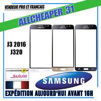VITRE POUR ÉCRAN TACTILE SAMSUNG GALAXY J3 2016 J320 noir blanc or