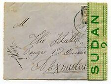 Sudan 1940 Khartoum - WWII CENSOR Cover to Alexandria Egypt -