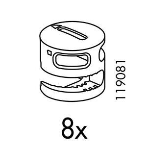 8 IKEA Plastic Cam Lock Nuts Part # 119081