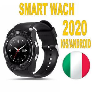 Smart Watch V8 Phone Bluetooth Orologio Telefono per Android menu ITALIANO*