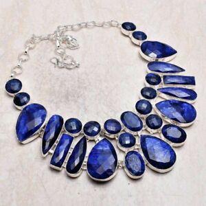 Sapphire Handmade Big Necklace Jewelry 120 Gms LBN 5169