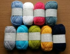 9x25g Balls The Art of Knitting Wool/Yarn(Assorted-Your Choice Colours-Same)New