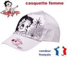 CASQUETTE  BETTY BOOP AVEC PAILLETTE TAILLE 56 couleur argent.:.