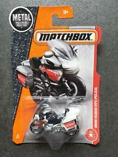 "Matchbox 2017 #78 BMW R1200 RTV Police ""Notarzt"" WHITE - Long card"