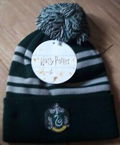 Harry Potter Men's slytherin Beanie Woolly Ski Bobble Hat
