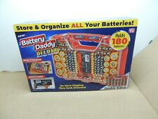 Ontel Battery Daddy Deluxe 180 Battery Organizer and Storage Case with Tester