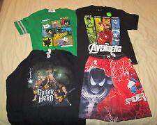 Lego Batman Avengers Guitar Hero & Spider Man 3pc lot shirts Swim shorts Youth L