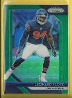 Leonard Floyd  2018 Panini Prizm PRIZMS GREEN Card  Chicago Bears Football LB