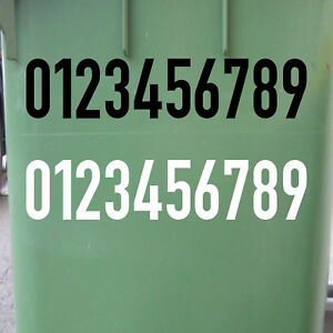10cm DIN1451 Wunsch Wahl Nr Aufkleber Haus Nummer Ziffer Zahl Hausnummer Tattoo