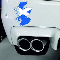 Sticker car moto map flag vinyl Laptop wall decal macbook Scotland Scottish