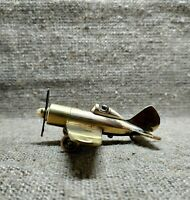 Vintage Petrol Lighter Table  Airplane  Armies USSR trench art paperweight