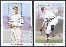 GUINEE 1999 - BASEBALL - JOE JACKSON 1889-1951      9 stamps in Sheetlet + 2 M.S