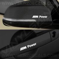 4x BMW M Power Logo Premium Quality Door Handle / Mirror Decals Stickers Alpina