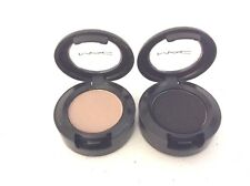 Lot/Set of 2 MAC Eyeshadow Singles Lyrical Neutral & Beyond Gorgeous Black NEW