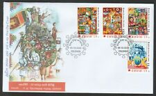 SRI LANKA 2020 FIGHT AGAINST VIRUS 19 FIRST DAY COVER WITH COMP. SET OF 4 STAMPS