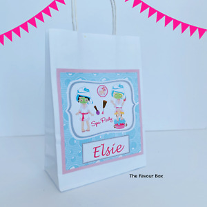 Personalised Gift Bag, Party Favour Bag, Pamper Party Theme