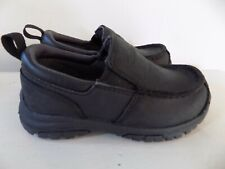 Timberland Carlsbad Boys Slip-On Leather Casual Loafer Shoe Black Size 7.5