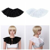 Vintage Mesh Neck Ruff Tulle Ruffle Collar Choker Cosplay Costume Fancy Dress