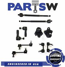 10 Pc New Suspension Kit for Geo Prizm Corolla Tie Rod Ends Sway Bar End Links