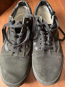 Vans Old Skool Black Size 10 UK trainers shoes canvas