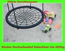 Rundschaukel Nestschaukel Tellerschaukel Netzschaukel Kinderschaukel 100cm 200kg