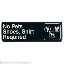 New listing No Pets Shoes & Shirt Required adhesive door sign Information Symbol Wall Label