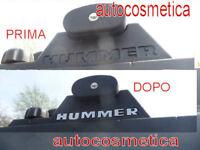 Barres Toit Lettres Chrome Acier Chrom Caractères Emblem Acier Hummer H2