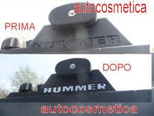 barre tetto lettere cromo acciaio Chrom Schriftzug  Emblem steel HUMMER H2