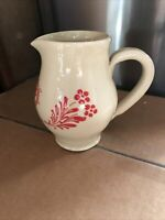 Rare Ludwig Soufflenheim Pottery Creamer Small Pitcher   Excellent Condition