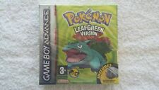 NINTENDO GAME BOY -  POKEMON LEAF GREEN (AUTHENTIC RED STRIP SEALED 2)