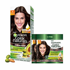 [GARNIER] Color Natural Oil Hair Color Box + 2pcs Sachet #4 Brown