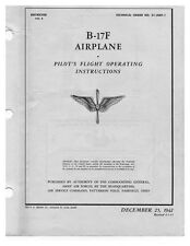 WWII B-17 Bomber Pilot's FLIGHT MANUAL Airplane BOOK