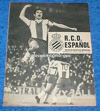 R.C.D. ESPAÑOL nº 2 NOVIEMBRE 1974 REVISTA GRAFICA MENSUAL RCD ESPANYOL SOLSONA
