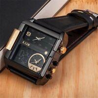 Montre-bracelet-homme-acier inoxydable-Chronographe-watch-montre-mode-luxe