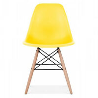 Eiffel Dining Chair | Retro Vintage Style Lounge Dining Room - ABS Plastic Wood