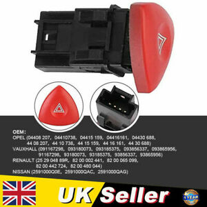 Hazard Light Switch Warning Fit For VAUXHALL Movano Mk1 Vivaro OPEL Movano A