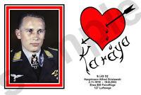 aviation art luftwaffe pilot photo postcard Alfred Grislawski colour WW2 JG 52
