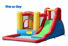 Bounceland Inflatable Bounce House Jump & Splash Adventure Water Slide Bouncer