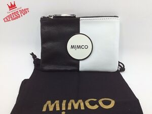 HOT $_$ MIMCO SMALL MIM POUCH WALLET BLACKWHITE FREE ^_^ EXPRESS POST