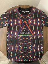 Katy Perry Firework All Over Sublimated Black T Shirt New Official  Small Adult