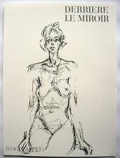 ALBERTO GIACOMETTI: WEIBL.AKT / FEMME NUE: LITHOGRAPHIE 1961 WERKVERZ. LUST 148