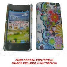 Pellicola+custodia BACK cover FIORI MULTICOLORE per Huawei Ascend Y300