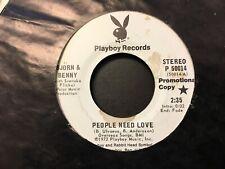 Bjorn & Benny [ABBA] People Need Love / Merry-Go-Round 45 Playboy WLP promo VG+