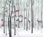 3D Forest Animals 1 Wall Paper Wall Print Decal Wall Deco Indoor wall Murals